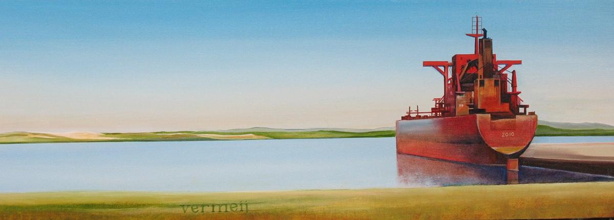 Schilderij van de Yeoman Bontrup. De Yeoman Bontrup is een zelflossende bulkcarrier die vaart onder de Bahamaanse vlag. In 2010 werd een deel van het schip verwoest door een hevige brand
