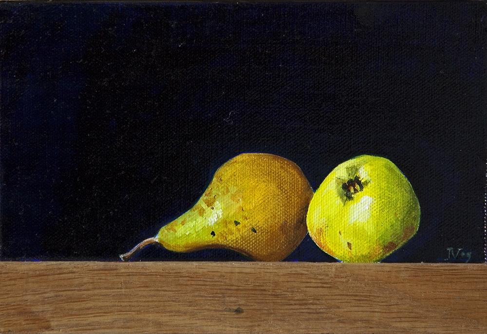 Schilderij met fruit uit de Vlist uit 2009