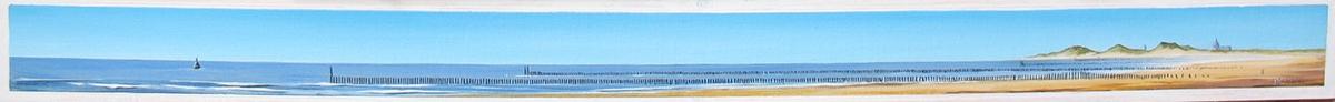 Schilderij met een blik op Zeeland uit 2012