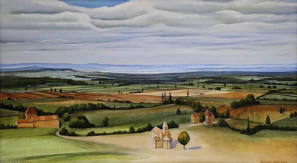 Schilderij van de blik op Sous Brançon uit 2005