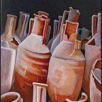 Schilderij van kruiken (optontis) uit 2008