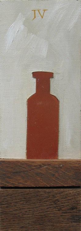 Schilderij van een flesje uit 2012