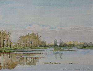 Overzicht van aquarellen en tekeningen door Joop Vermeij