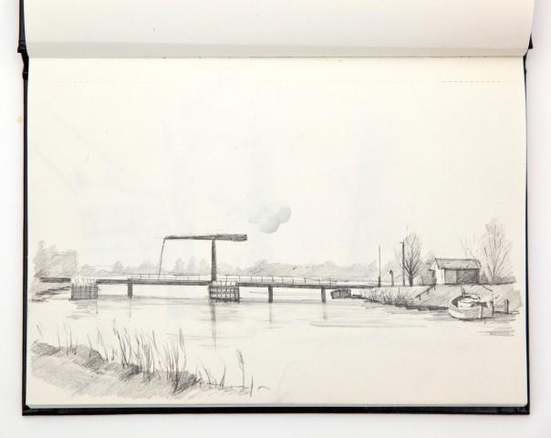 Oude IJssel, potlood